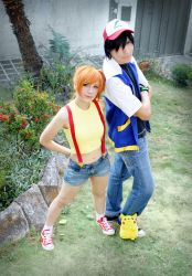 The pokemon team - Ash Misty and Pikachu by SailorMappy