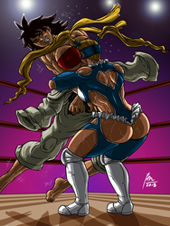 R. Mika VS Makoto by BM-Illustrations