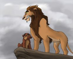 Zira and Kovu by PheaVampire
