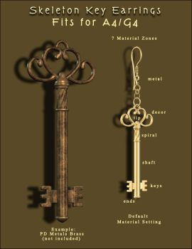 Skeleton Key Earrings by inception8-Resource