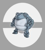 Steel / Fighting Poliwrath by JaBaVoX