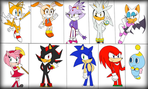 Sonic Girls and Boys by GothicSnowflake