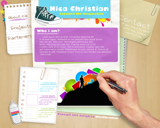 My personal website concept by NicaChristian