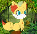 Two Tails Fennekin :gift: by BluethornWolf