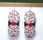Confetti Ovals Polymer Clay Dangle Earrings by ezo