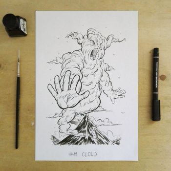 Inktober2017 day19 cloud by Entropician