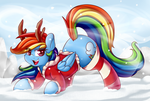 Reindeer Dash 2016 V1 by GrapheneDraws