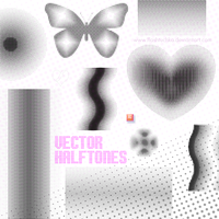 Dotted Vector Halftones by flashtuchka