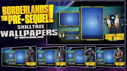 Borderlands the Pre-Sequel Skill Tree Wallpapers by mentalmars