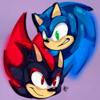 Red and Blue by HoneyMoon374