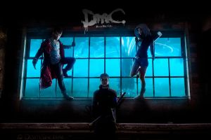 Savage! - DmC Cosplay with Dante, Vergil and Kat by LeonChiroCosplayArt