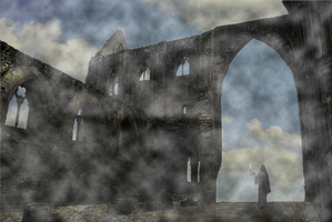 Ruins in the Clouds 002 by JoeyD473