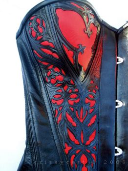 leather corset close-up by crissycatt