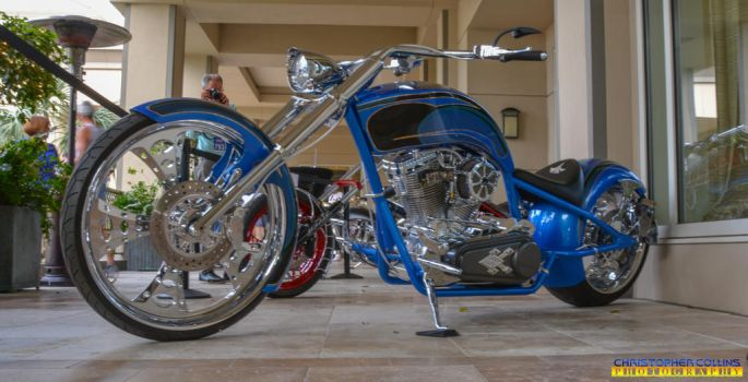Custom Blue Motorcycle March 10, 2017 by ENT2PRI9SE