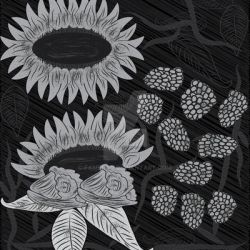 Black and White Floral Art by fAmEnXt