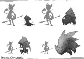 Enemy Concepts by JustMick