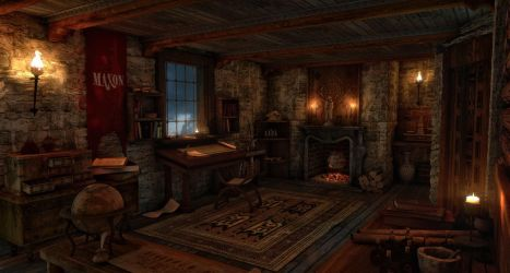 Medieval science room by gurgur