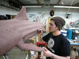 working on the shark by gritsfx