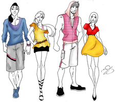Fashion of the Hundred Acre Wood by ArtSquirrel
