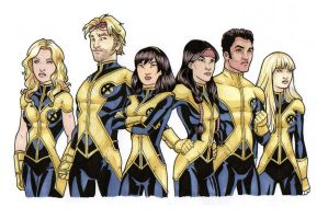 New Mutants Line Up by cpjudd