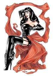 Bettie Page Basecard by Csyeung