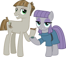 MLP Vector - Mudbriar and Maud Pie by jhayarr23