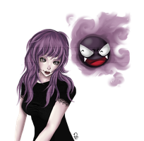Gastly by RazorCheeks