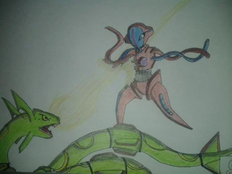 deoxys vs rayquaza by jeticer