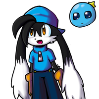 Klonoa and Huepow by SolarCookie