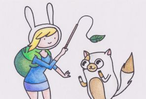 Fionna and Cake Drawing by sophiemai