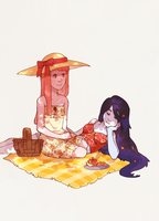 Girlfriend Picnic by uixela