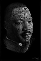 Martin Luther King by lilianbourgevin