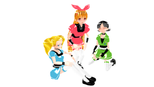 MMD  Fusion Fall Powder Puff Girls - retired by mbarnesMMD