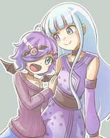 Komori and Alana by wallmask3