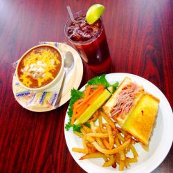Grilled Ham Cheese and French Fries by GothScarlet