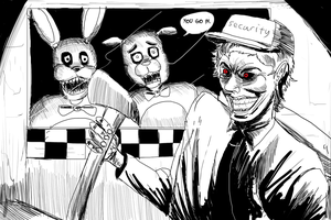 Dark vs FNAF by ShadowClawZ