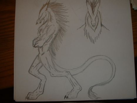 Michael's beast form concept by xXBrokenskiNXx