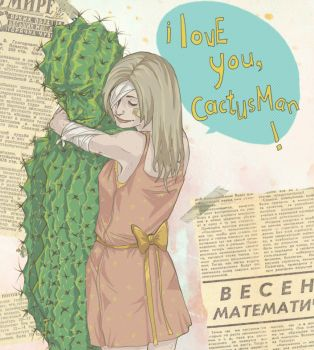 i love you, cactusman by BakaAya