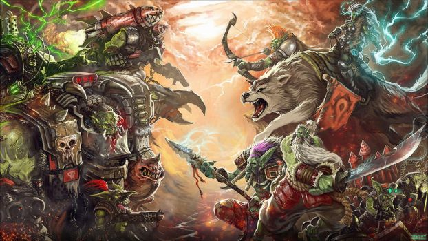 Orks vs. Orcs - Who wins? by Bradwhitlam