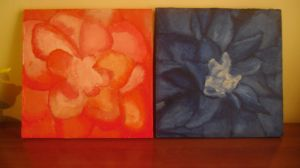 2 floral paintings by MarxallyHD