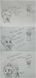 Me and OC (short comic 1) by mikeemee16aa