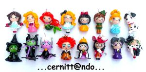 Bad and good polymer clay pendants by cernittando