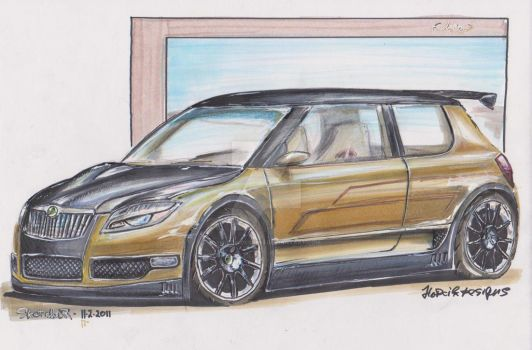 Fabia - golden by HorcikDesigns
