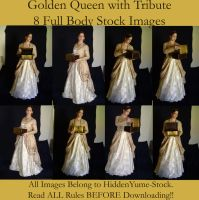 Golden Queen with Tribute by HiddenYume-stock