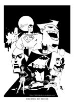 Batman/Superman (Tribute to Bruce Timm) by EttoBascianoWorks