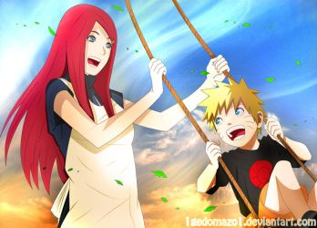 Kushina and Naruto *-* by 1GedoMazo1