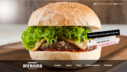 Mmg's Burger Web Concept by grafiket