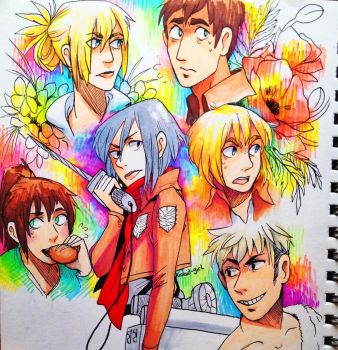 Attack on Marker Doodles by Koolaid-Girl