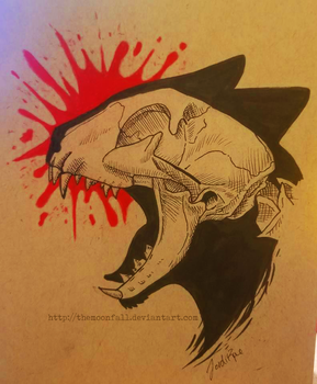 Cat Skull Design by TheMoonfall