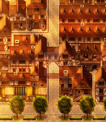A Medieval Town by Knayter